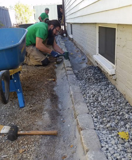 Hardscape installation | Pumpkin Brook Organic Gardening